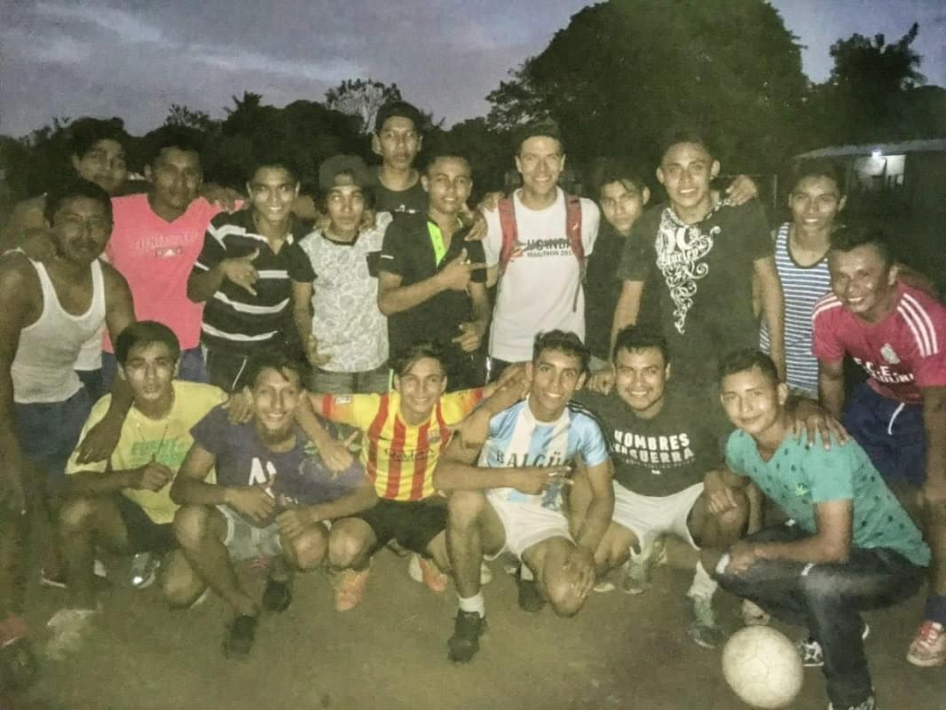 Team photo at the final training session on Ometepe