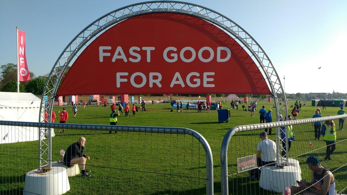 Fast Good for Age enclosure at London Marathon 2018