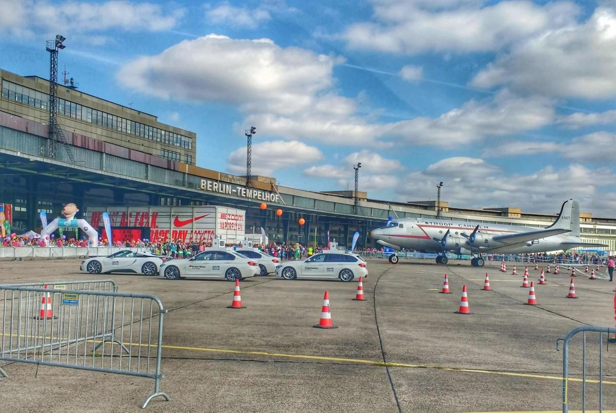 Exterior of Berlin Tempelholf airport - venue for 2018 Berlin Marathon expo