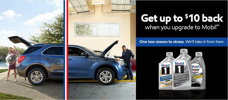 $10 rebate coupon mobil 1 oil change