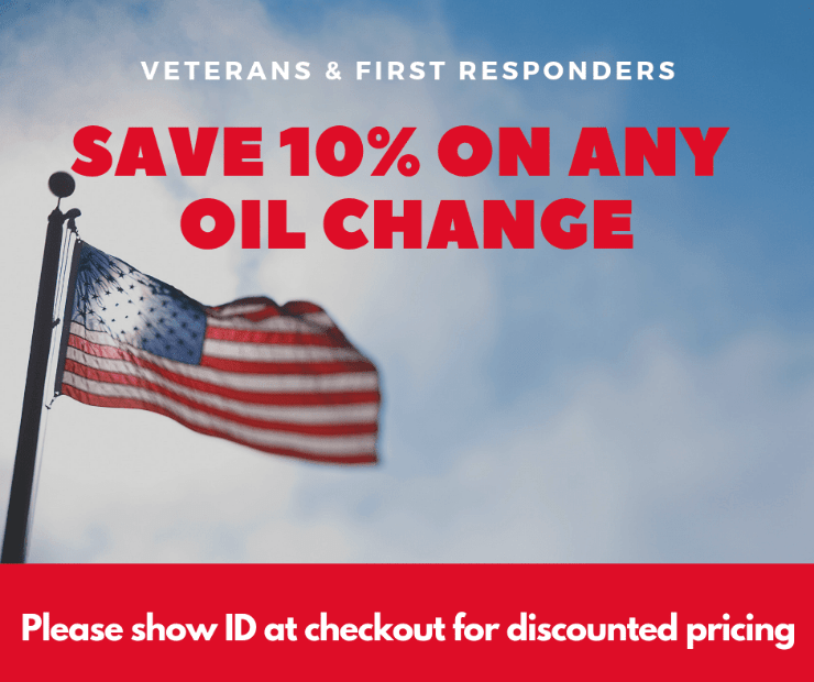 Veterans First responders OIl Change Coupon near me in Sarasota