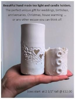 Handmade porcelain candle holders