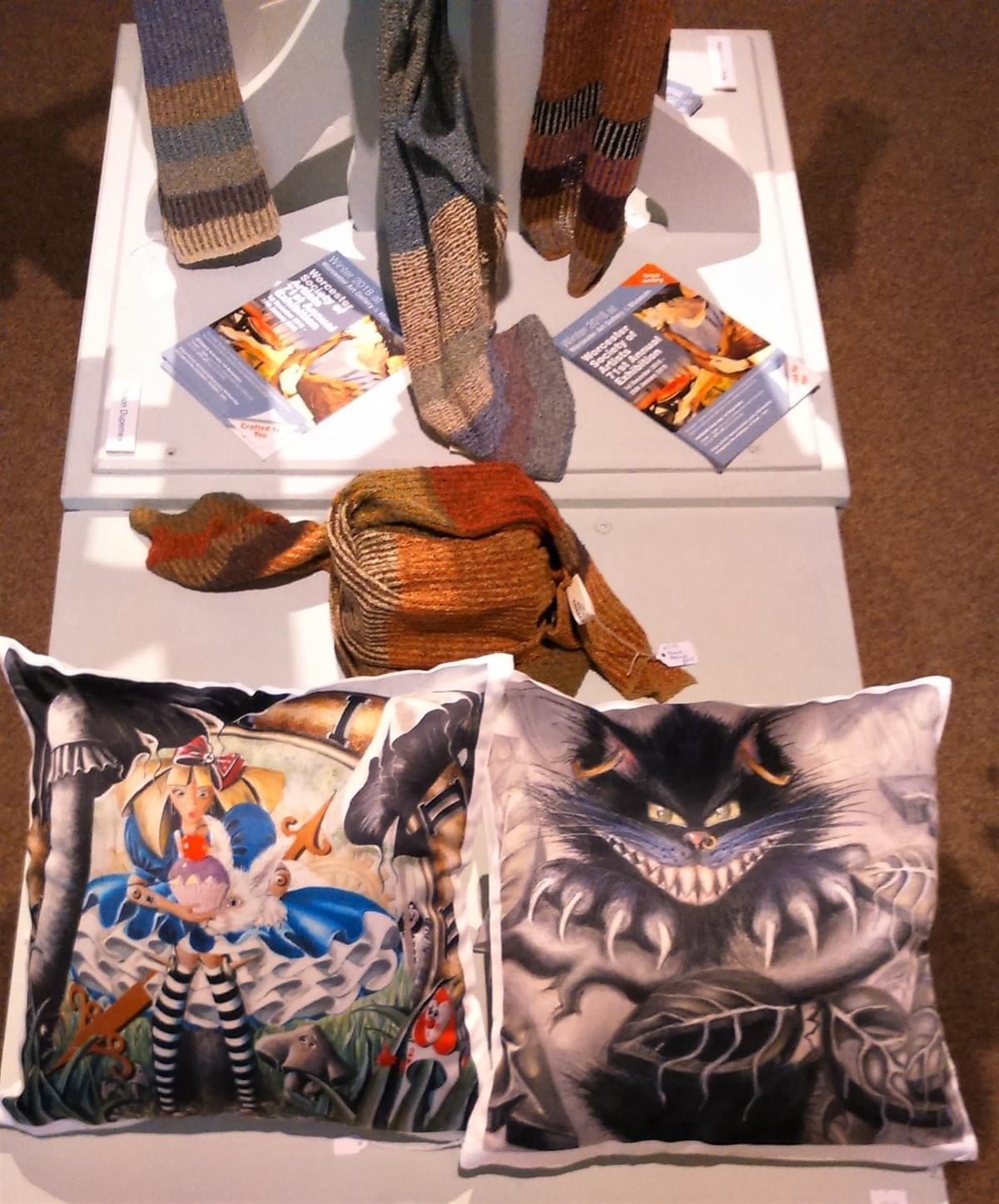 Silky cushions @ £29.00 with my wonderland designs on the front