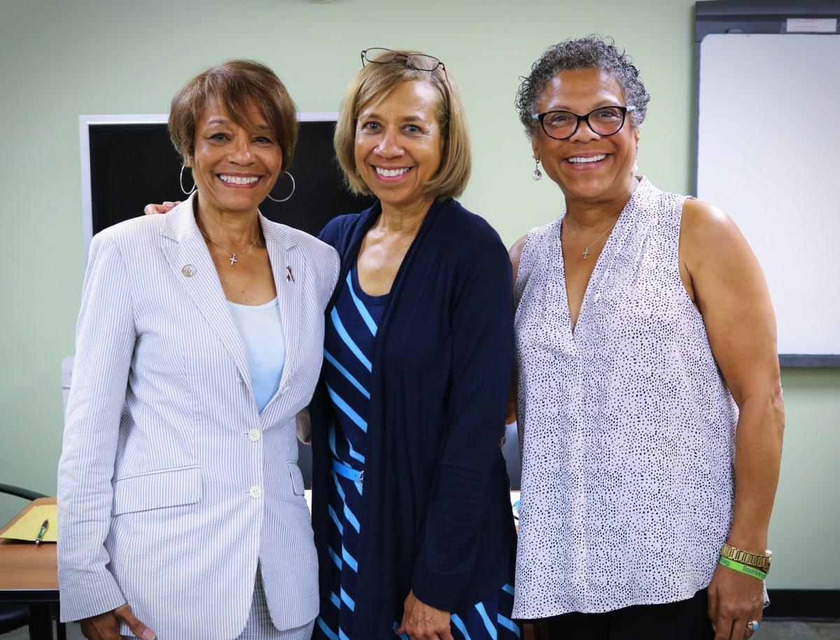 NAMI Urban LA's Board Members Dr. Lynn Goodloe, Ann Though, and Benita Council.