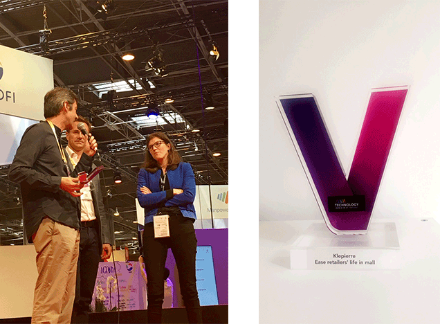 Lineberty, solution de gestion des files d'attente, grand vainqueur du challenge Klépierre à Vivatech
