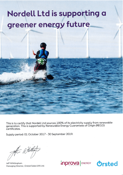 Greener energy future certificate