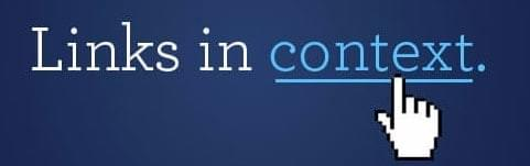 Links in context banner