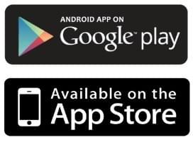App available on Google Play and App Store
