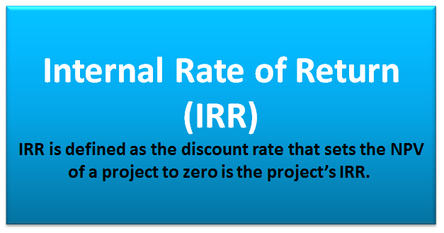 To calculate IRR using the formula, one would set NPV equal to zero and solve for the discount rate (r), which is the IRR.