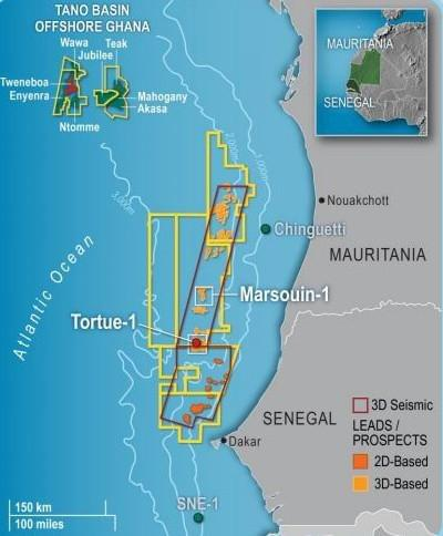 Tortue natural gas field offshore Mauritania and Senegal