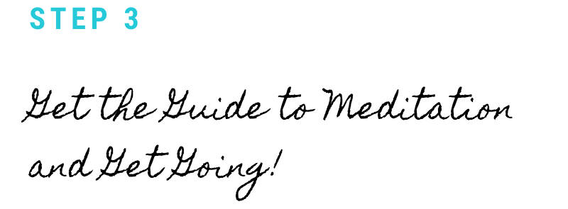 Cursive lettering: Get the guide to meditation and get going!