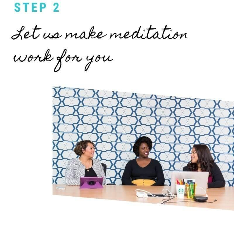 Office meditation and healing space; connection with co-workers