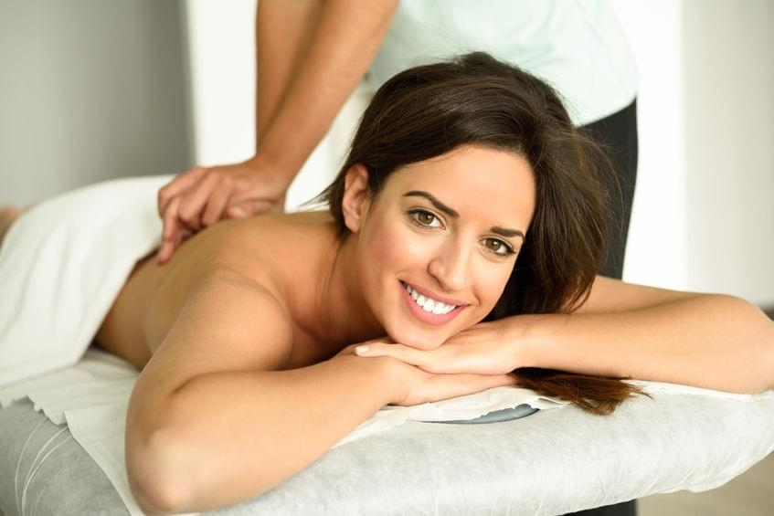 Woman Getting  A Relaxing Massage At Intuitive Bodywork