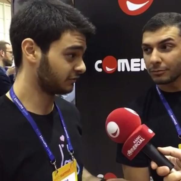 Sebastien and Abdallah interviewed by Radio Commecial about Meetwo on the Web Summit 2016