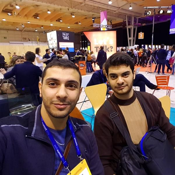Sebastien Koubar and Abdallah El Amine are the founders of Meetwo, the dating app based on chemistry, at the Web Summit 2016