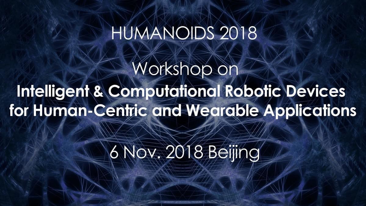 Humanoids2018 Workshop - The Bionics & Control Lab