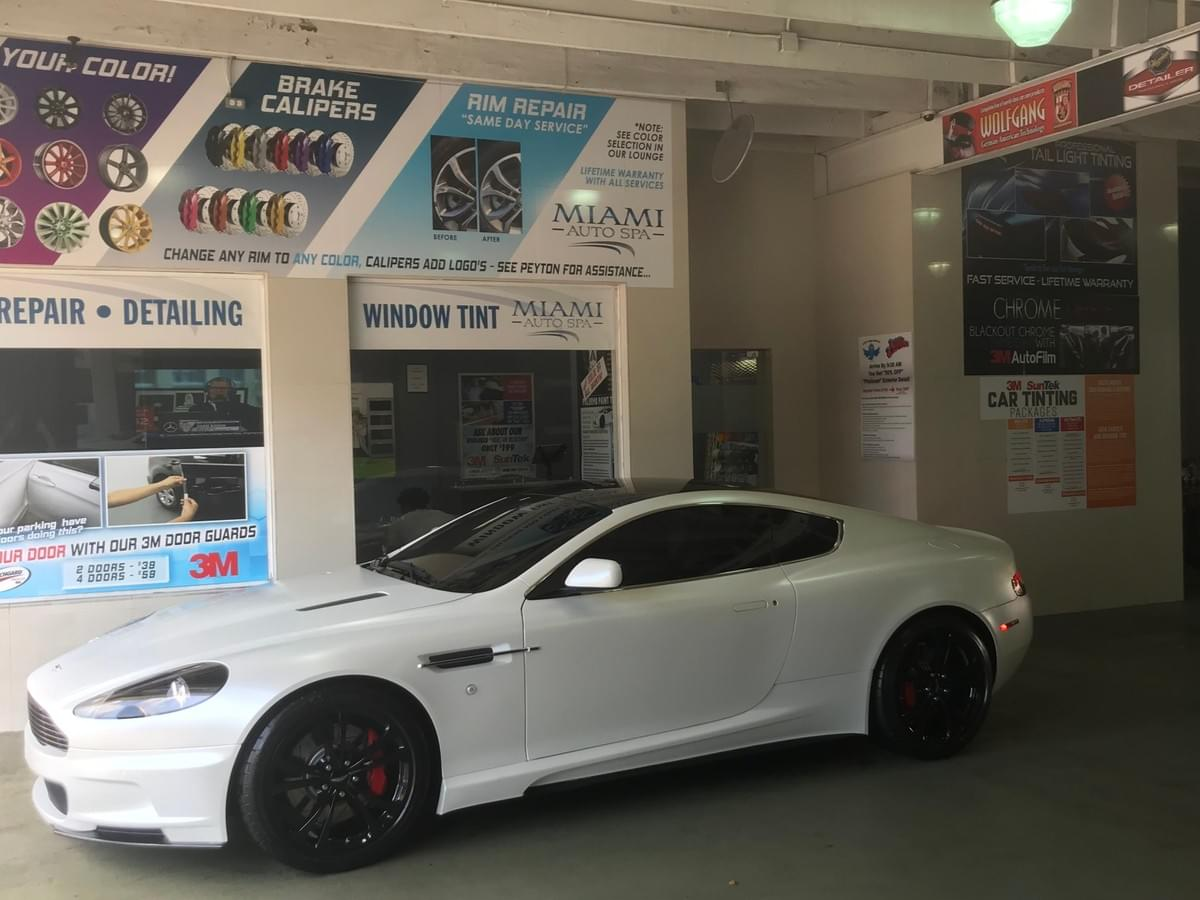 3M aston martin window tinting in Miami