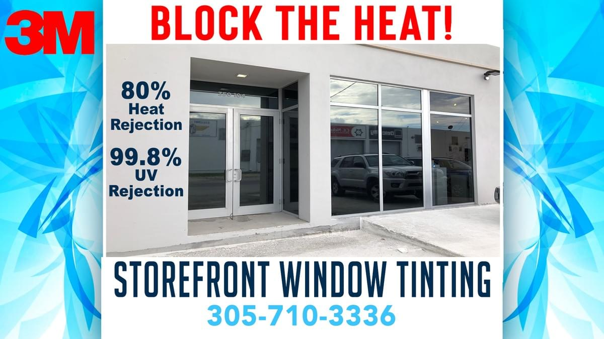 storefront window tinting Miami, storefront window tinting Miami Beach, storefront window tinting doral