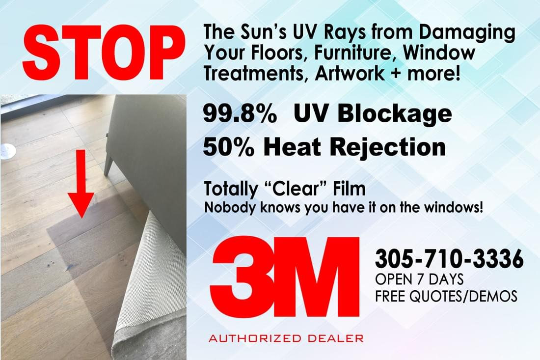 Block UV window films Miami, Miami commercial window tinting, Miami office building window tinting, Miami glass tinting, Miami storefront window tinting