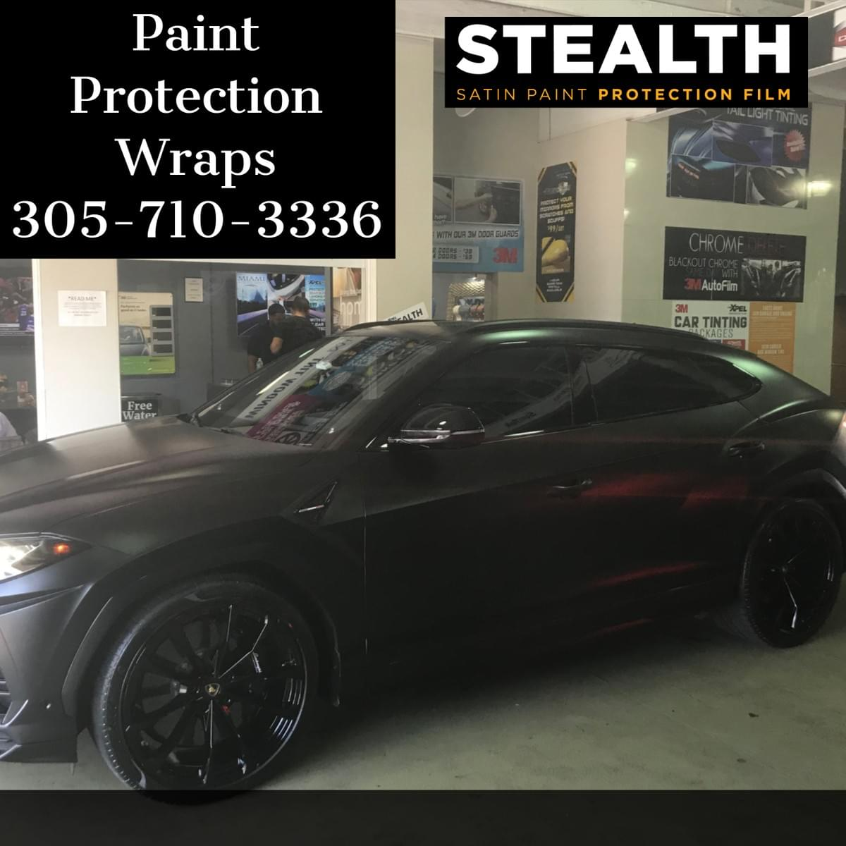 xpelStealth car wrap paint protection Miami 33131, xpel Stealth Wrap car paint protection Miami Beach 33139