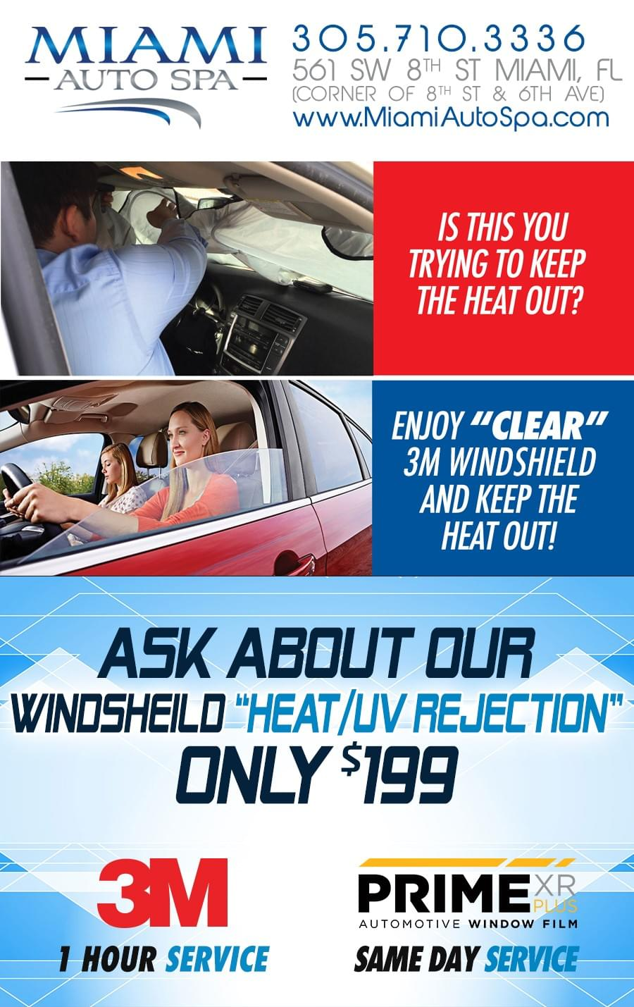 car windshield tinting Miami 33131, auto windshield tinting Miami 33131