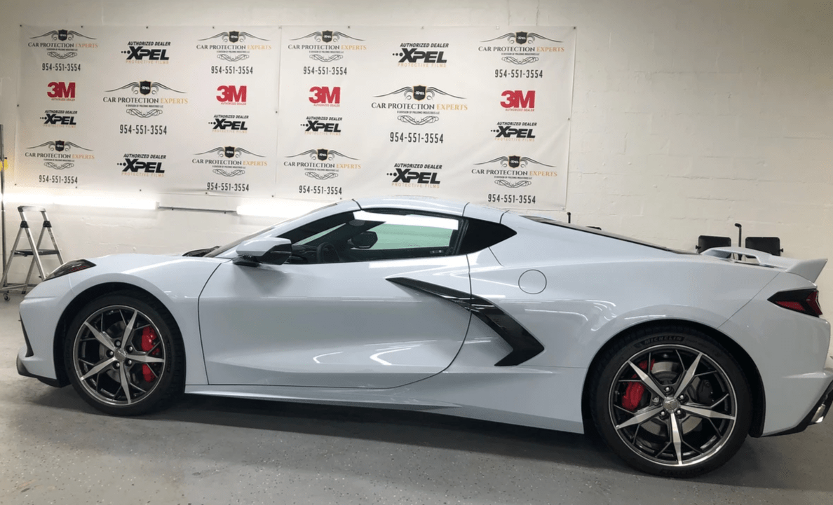 2020 Corvette paint protection film installed Xpel, 3M - 3M clear bra for 2020 Corvette - Xpel Clear bra for 2020 Corvette