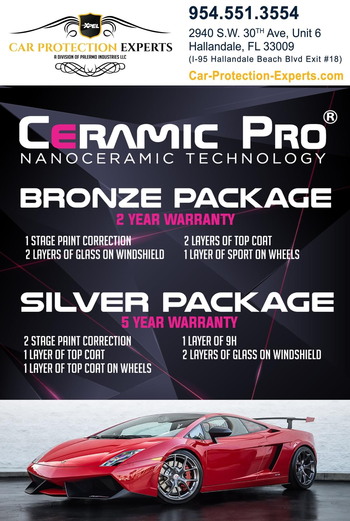 Ceramic pro car detailing in Miami Dade County, ceramic pro car dealer in Broward, ceramic pro car detailing for Hallandale FL, ceramic pro car detailing near Fort Lauderdale, ceramic pro car detailing near Aventura FL, ceramic pro car detailing for Sunny Isles Beach, ceramic pro car detailing Weston FL, ceramic pro car detailing in Fort Lauderdale, ceramic pro car detailing Deerfield Beach FL, ceramic pro car detailing Boca Raton,ceramic pro car detailing Pompano Beach, ceramic pro car detailing Lauderhill, ceramic pro car detailing Sunrise FL, ceramic pro car detailing Bal harbour, ceramic pro car detailing Pembroke Pines, ceramic pro car detailing Davie, ceramic pro car detailing Dania Beach, ceramic pro car detailing Plantation, ceramic pro car detailing Miramar, ceramic pro car detailing Pembroke Pines, ceramic pro car detailing Parkland, Ceramic Pro Certified Installers, Ceramic pro price, Ceramic Pro 9H, Ceramic Pro near me, Ceramic Pro cost, Ceramic Pro dealer and we have Ceramic pro reviews.