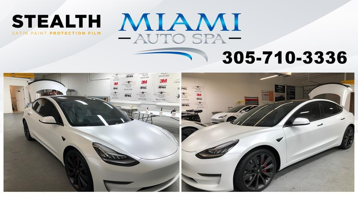 Tesla car window tinting Miami
