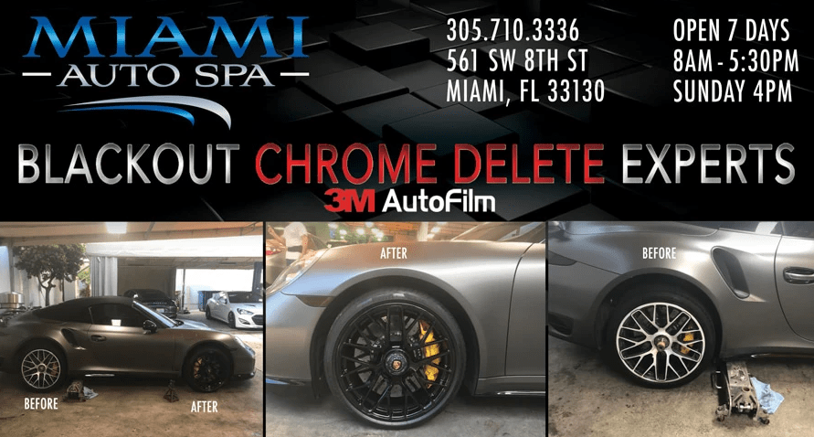 Chrome delete cars in Miami, Blackout cars in Miami