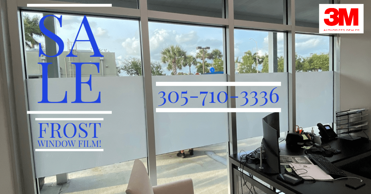 frosted window tinting Miami, frosted privacy film installers Miami, privacy tinting Miami, 3M frosted window film installers Miami