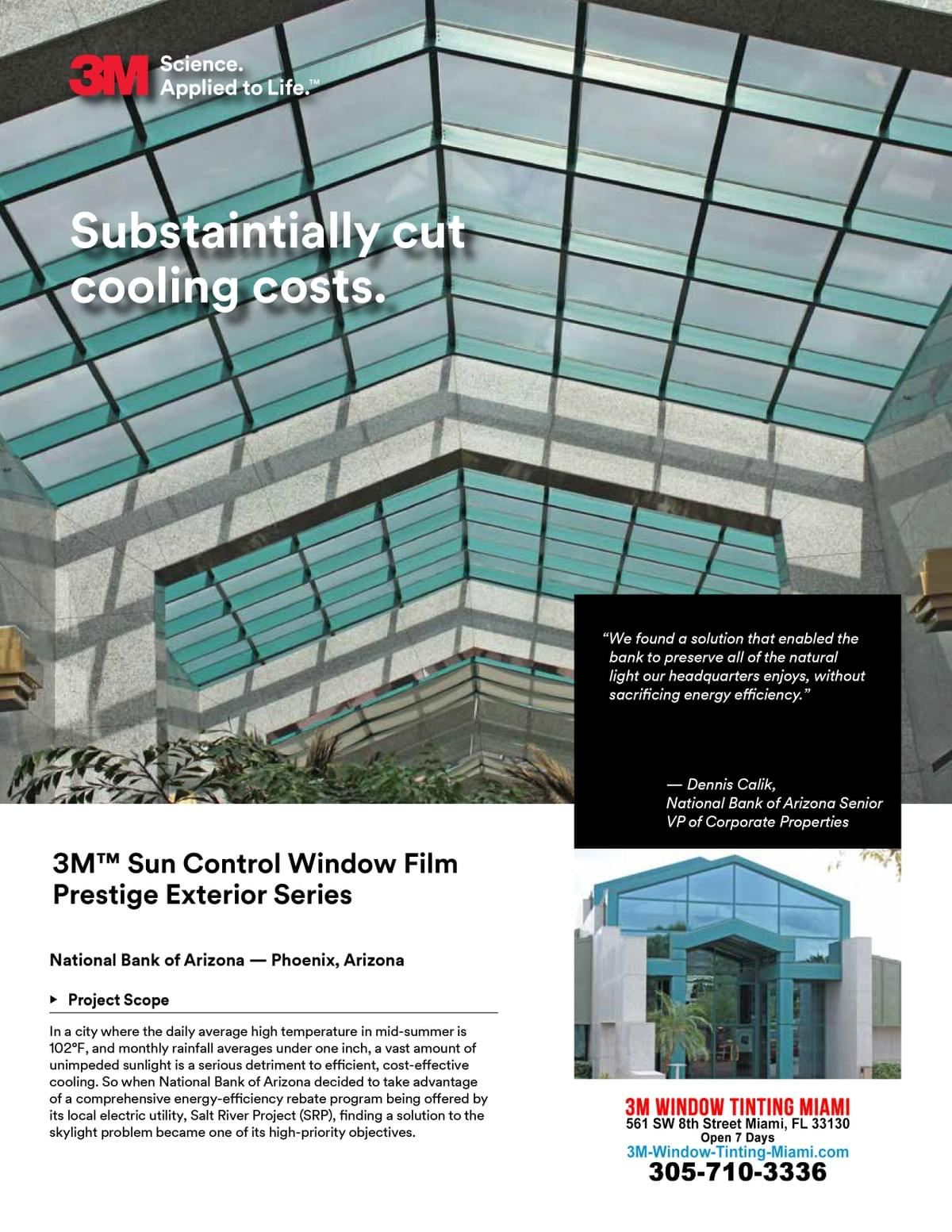 3M Prestige Window Tinting Miami, 3M commercial window tinting Miami