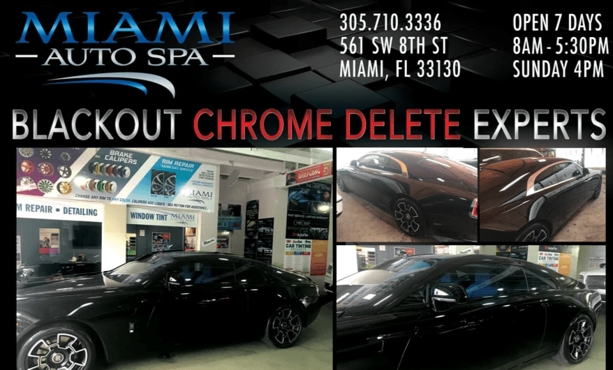 Chrome blackout for cars Miami 33131, Chrome Blackout for cars Miami Beach 33139