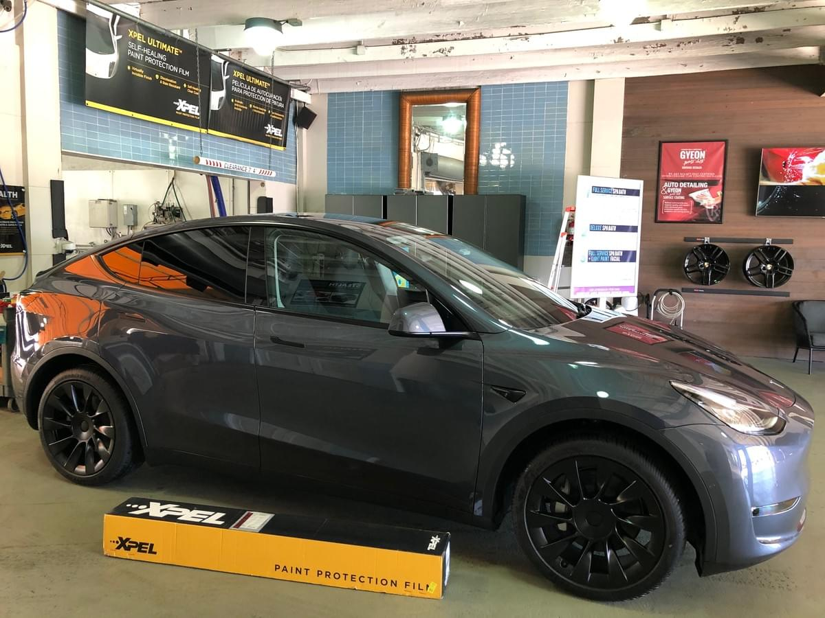Tesla Model Y PPF paint protection film Miami 33131, Xpel Clear car Bra paint protection film Miami Beach 33139, Tesla Model Y Clear bra installer Miami, Coral Gables, Pinecrest, Tesla Model Y window tinting