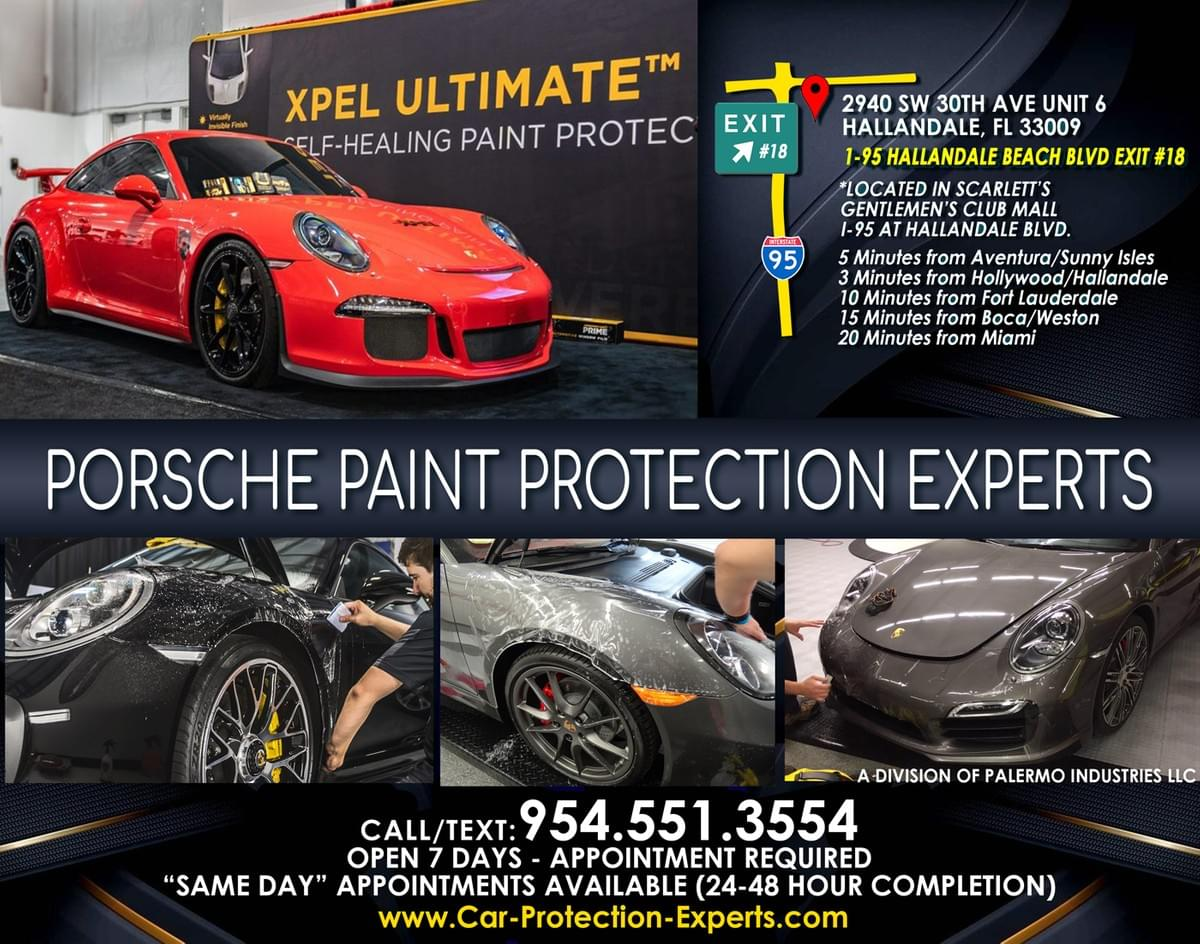 Xpel Fort Lauderdale Porsche Clear Bra Paint Protection Film, Xpel Fort Lauderdale Porsche Clear Bra Paint Protection Film,