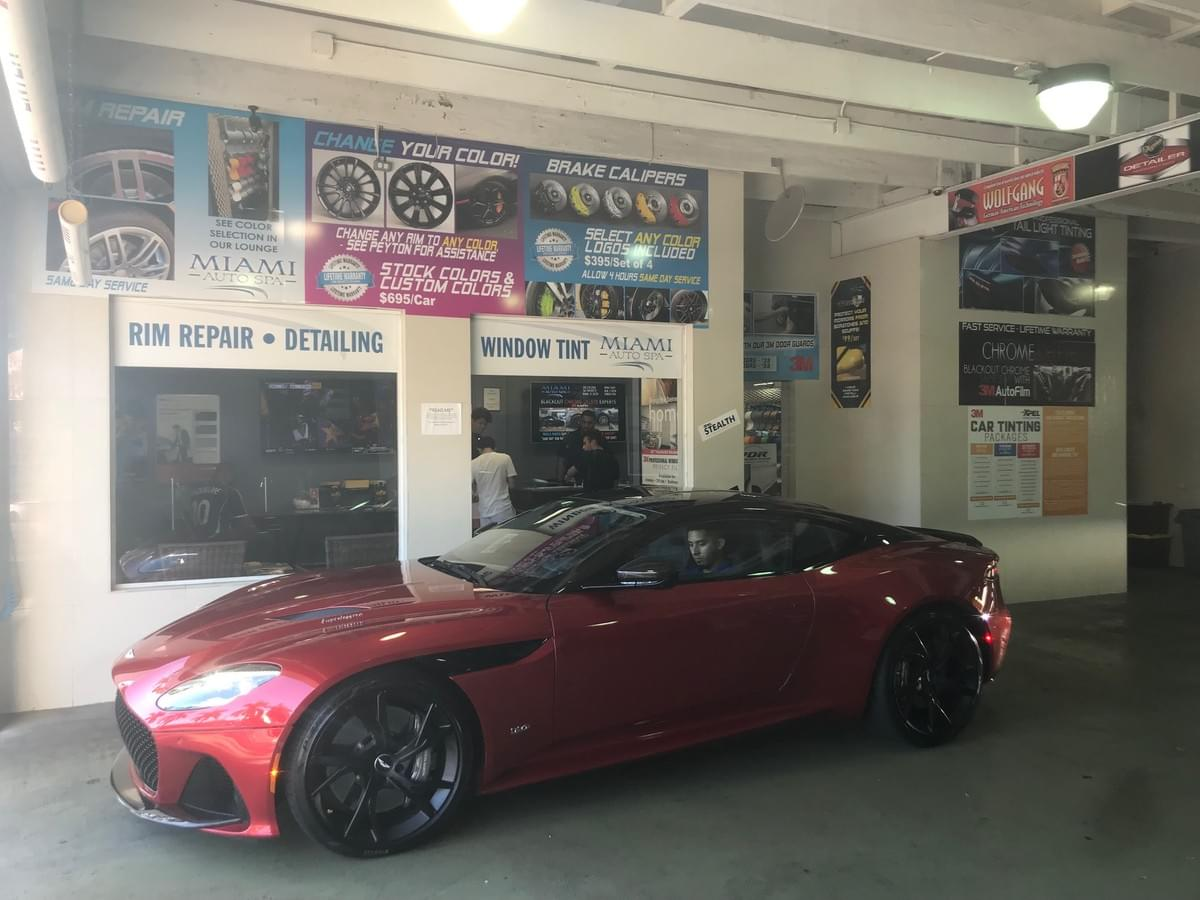 Aston Martin clear bra Miami, Aston Martin paint protection Miami, Aston Martin Car Window Tinting Miami Beach, Aston Martin Auto Window Tinting Miami Beach
