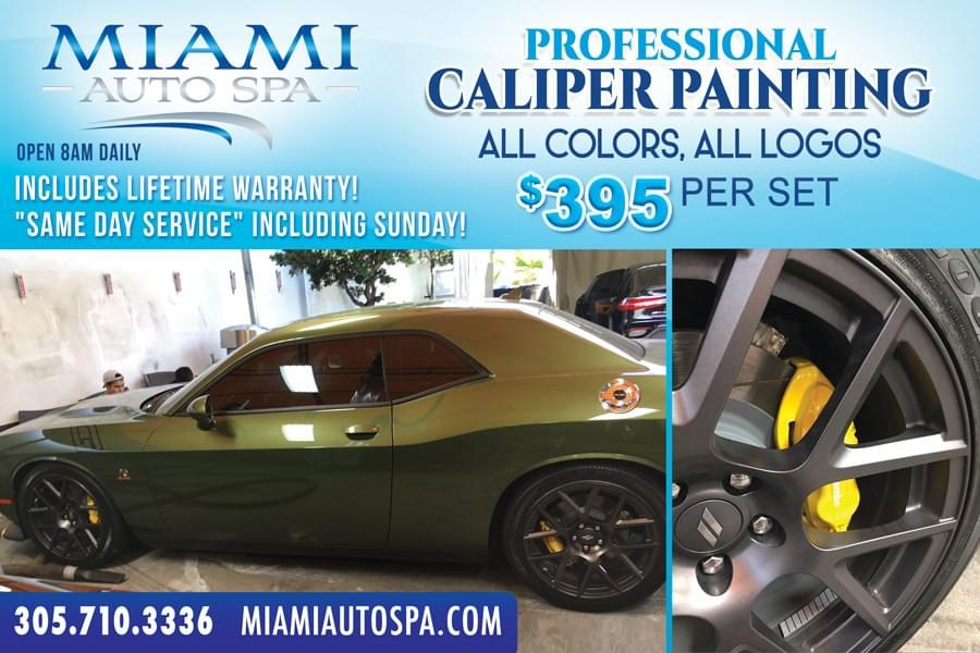 Corvette Brake Caliper Painting Miami