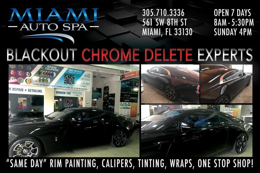 Rolls Royce Black Out experts in Miami, Professional Rolls Royce Rim Painting Miami