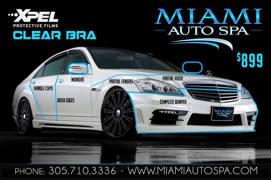 Xpel Paint Protection in Miami 33130, clear bra for cars Miami, Hood protection for cars, clear bra installer Miami 33131