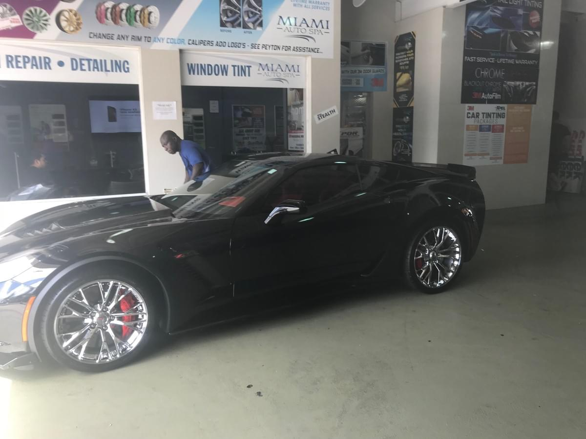 corvette window tinting in Miami, tint my corvette windows in Miami, xpel window tinting in Miami