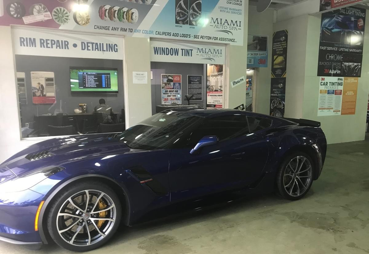 Corvette 3M Car Window tinting Miami 33131, Corvette auto tinting Miami 33131, Corvette car tinting Miami 33131