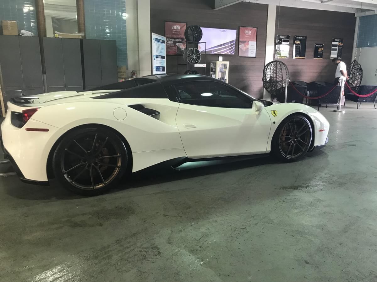 Ferrari wheel repair Miami, Ferrari Curb Rash Rim Repair Miami, Ferrari wheel painting Miami, Ferrari wheel rash repair Miami, Ferrari Caliper Painting in Miami 33131