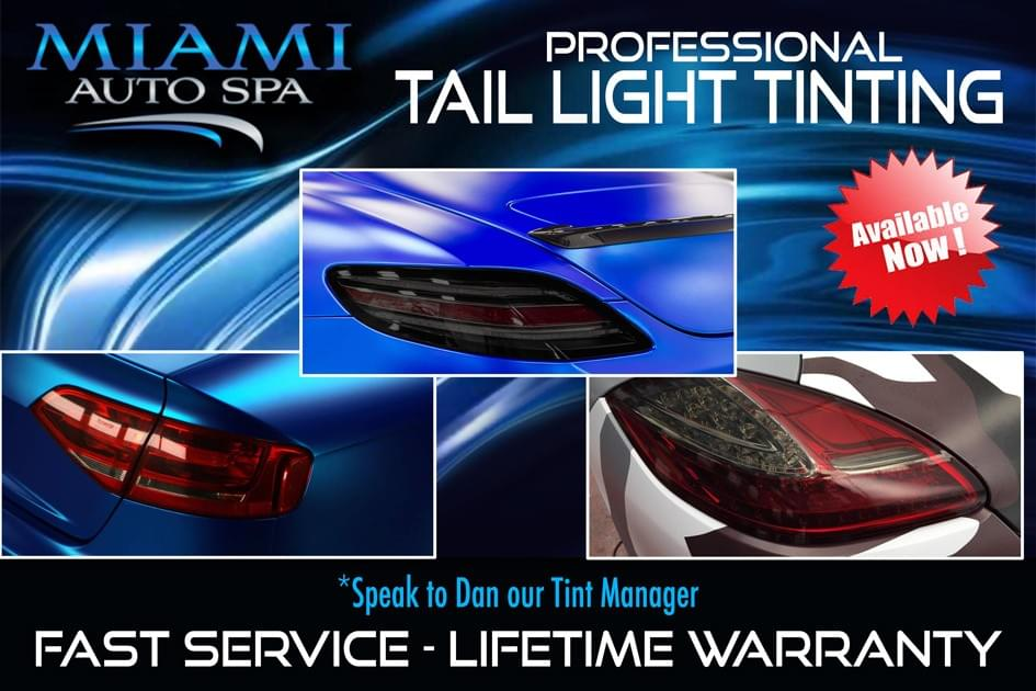 tail light tinting Miami 33131, black out tail light tinting Miami 33131, tail light tinting Lexus Miami 33131