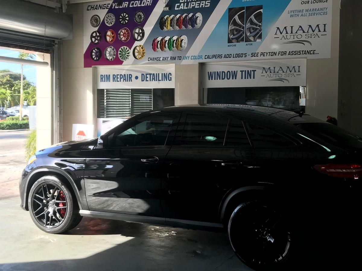 Mercedes Benz 3M window tinting Miami 33131, Mercedes 3M car window tinting Miami 33130