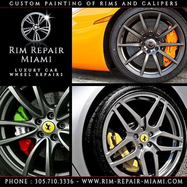 Ferrari Brake Caliper painting Miami