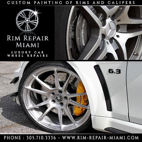 Mercedes Brake Caliper painting Miami