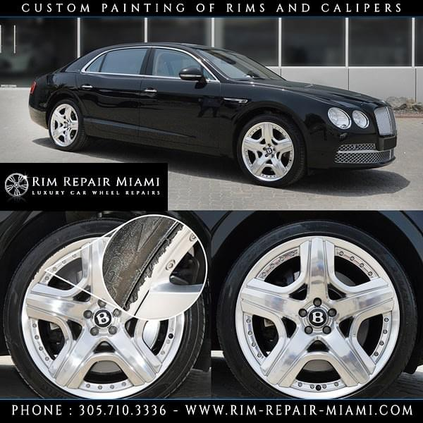 Bentley Rim repair Miami, Bentley Wheel repair Miami, Bentley Curb Rash repair Miami, Bentley paint wheels Miami, Bentley paint rims Miami, Bentley customize wheels Miami, Bentley Caliper painting Miami, Bentley custom finish wheels Miami