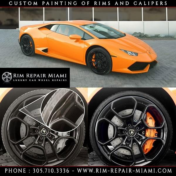 Lamborghini Brake Caliper painting Miami