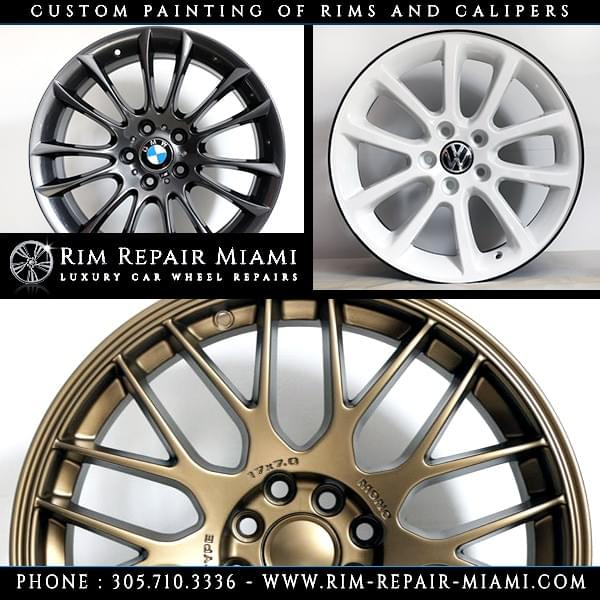 BMW Rim repair Miami, BMW Wheel repair Miami, BMW Curb Rash repair Miami, paint BMW wheels Miami, paint BMW rims Miami, BMW customize wheels Miami, BMW Caliper painting Miami, BMW custom finish wheels Miami