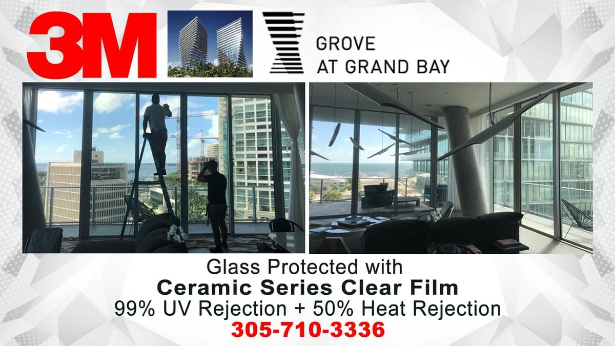 Commercial window tinting Miami 33131, office window tinting Miami, glass tinting Miami