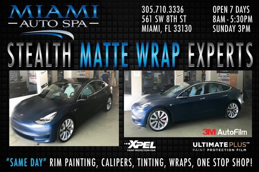 Xpel paint protection film in Miami, Miami installer of clear bra film